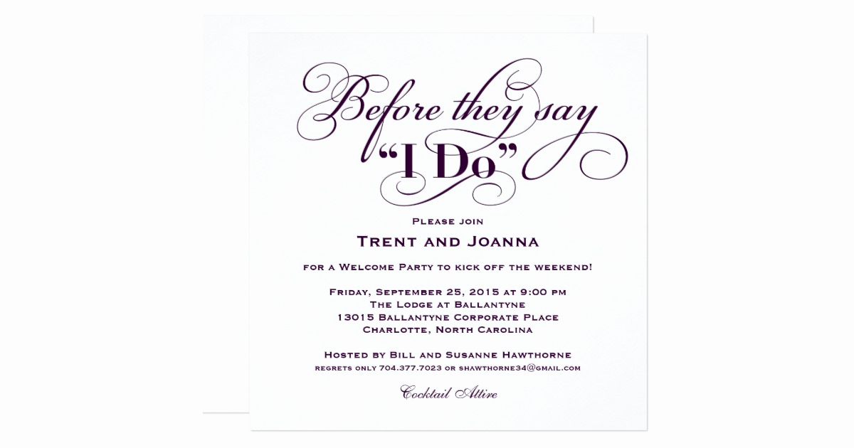 Wedding Welcome Party Invitation Lovely Wedding Wel E Party Invitation Wedding Vows