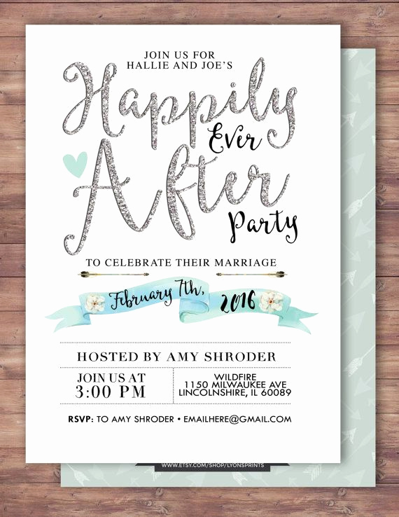 Wedding Welcome Party Invitation Wording Beautiful Happily Ever after Invitation Boho Wedding Shower