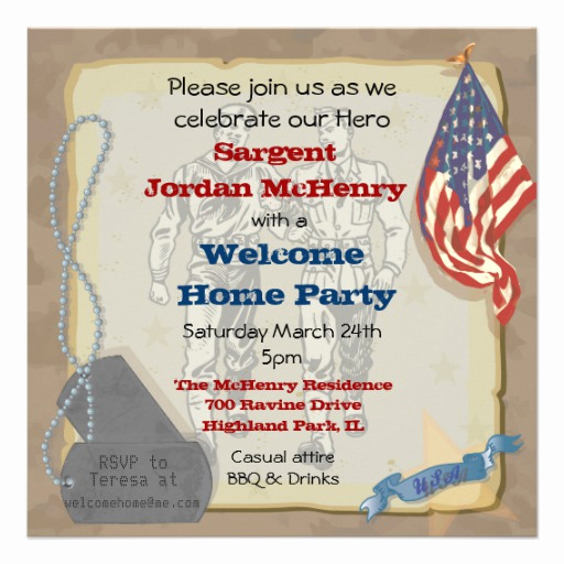 Wedding Welcome Party Invitation Wording Elegant Personalized Military Invitations