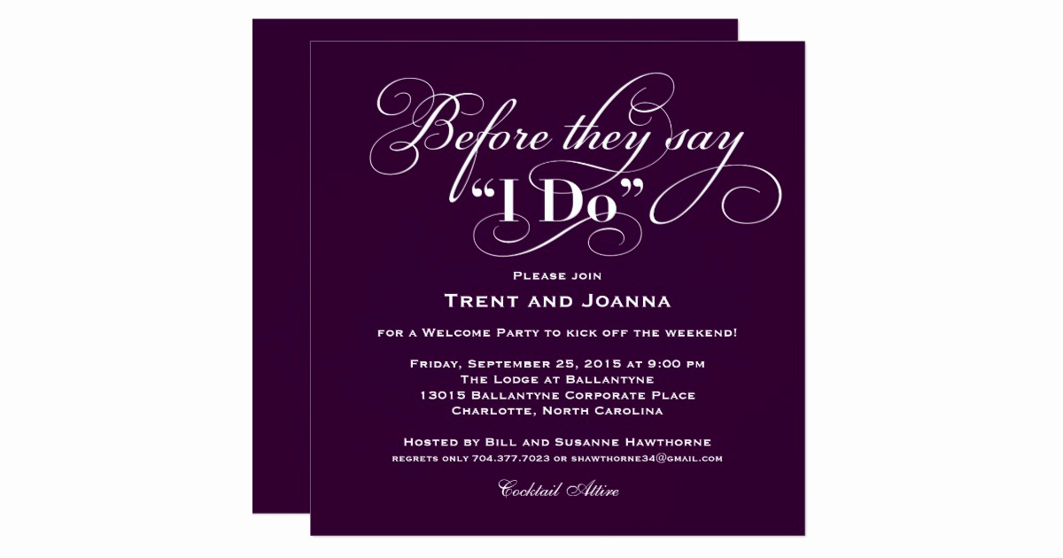 Wedding Welcome Party Invitation Wording Inspirational Wedding Wel E Party Invitation Wedding Vows