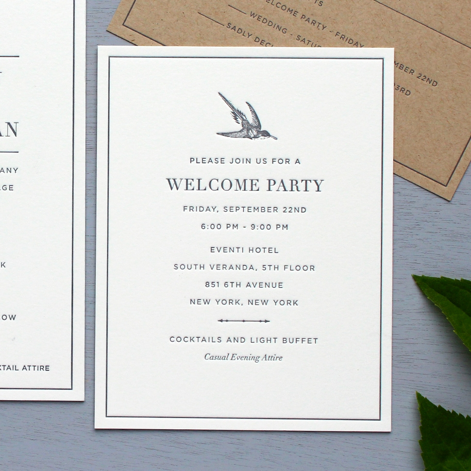 Wedding Welcome Party Invitation Wording Inspirational Wording Help — Sesame Letterpress Design