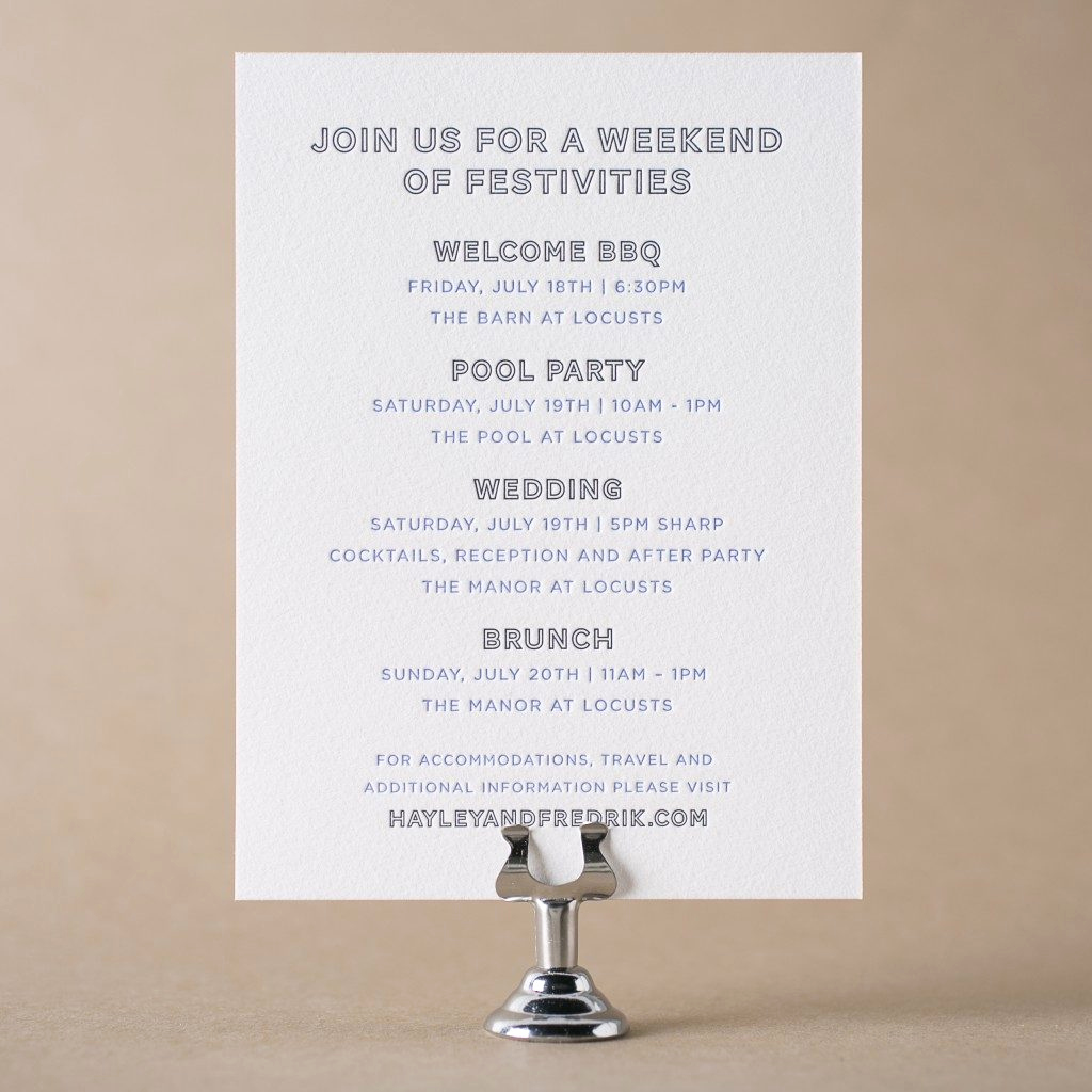 Wedding Welcome Party Invitation Wording Luxury Letterpress Wedding events Cards for Wedding Invitations