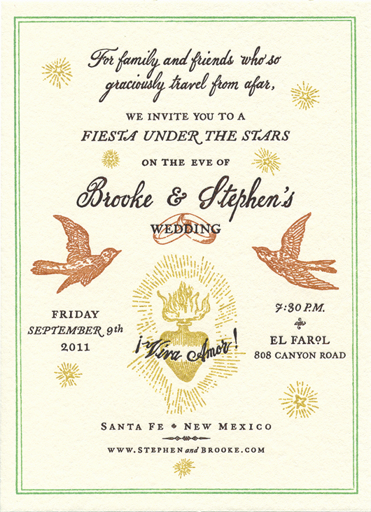 Wedding Welcome Party Invitation Wording New Brooke & Stephen – Santa Fe Wedding — Cynthia Warren Design