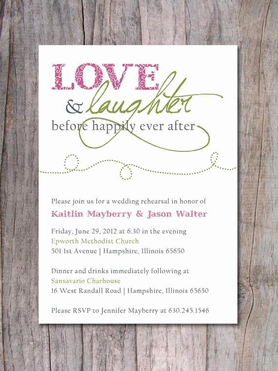 Welcome Party Invitation Wording Best Of Items Similar to Rehearsal Dinner Invitation Happily