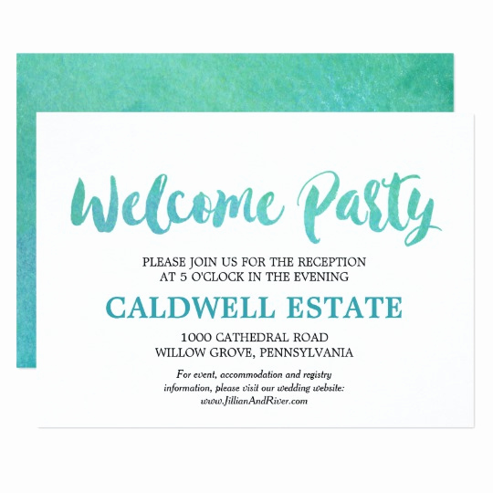 Welcome Party Invitation Wording Best Of Watercolor Calligraphy Wel E Party Insert Invitation