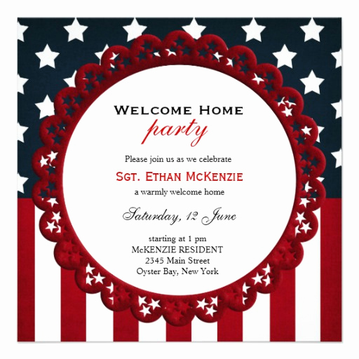 Welcome Party Invitation Wording Fresh Personalized Wel E Home Military Party Invitations