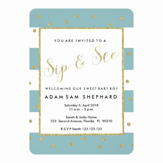 Welcome Party Invitation Wording Fresh Sip and See Invite New Baby Wel E Party Invitation