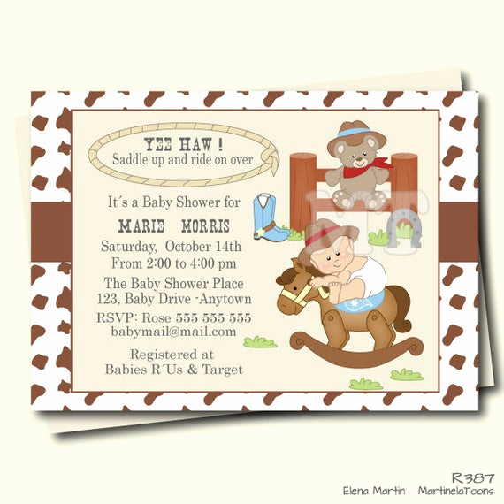 Western Baby Shower Invitation Best Of Western Baby Shower Invitation Cowboy Baby Shower Invite