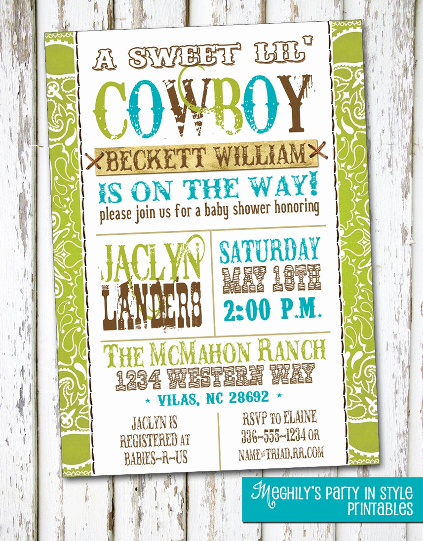 Western Baby Shower Invitation Best Of Western Boy Baby Shower Invitation