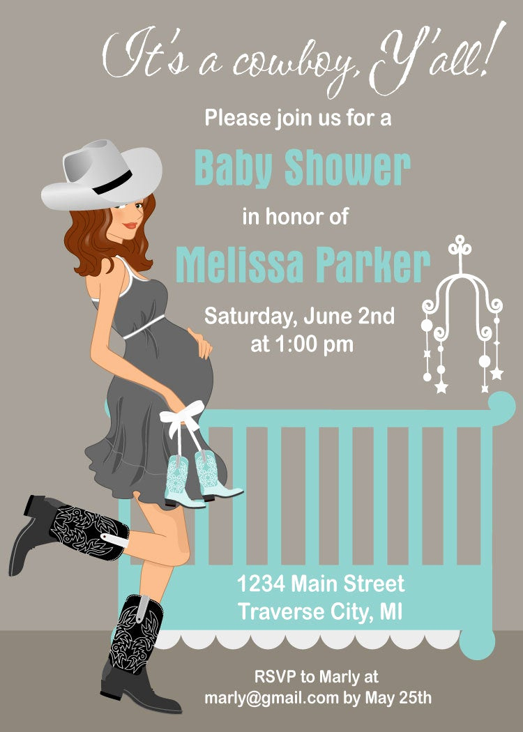 Western Baby Shower Invitation Lovely Cowboy Baby Shower Invitations Country by Announceitfavors