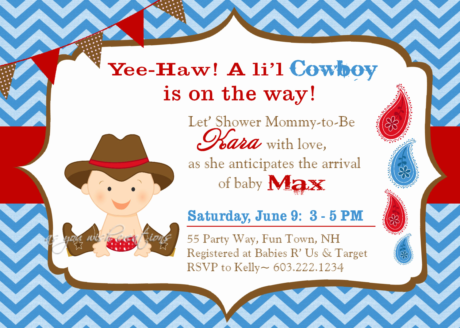 Western Baby Shower Invitation Luxury Cowboy Baby Shower Invitation Boy Invitation Cowboy Shower