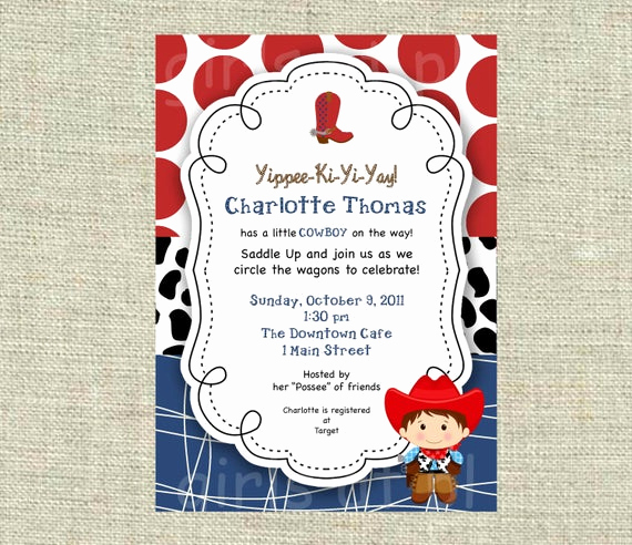Western Baby Shower Invitation Luxury Items Similar to Baby Shower Cowboy Cowgirl Boy Invitation