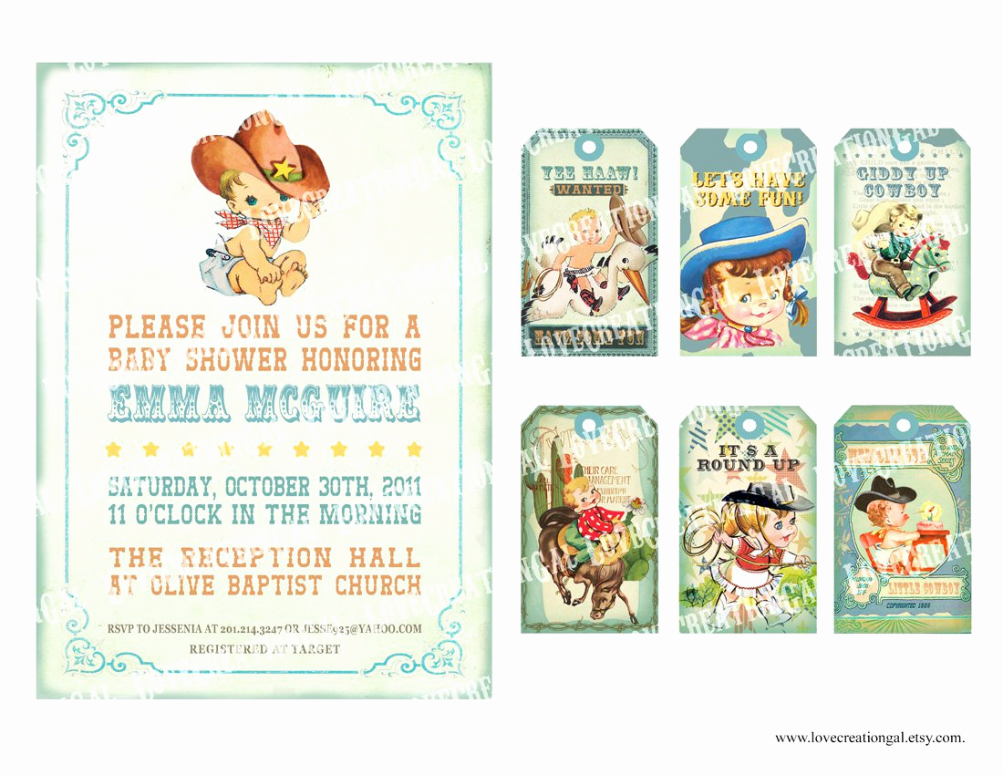 Western Baby Shower Invitation Template Beautiful Cowboy Baby Shower Invitations Printable