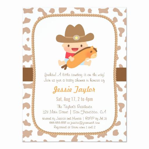 Western Baby Shower Invitation Template Best Of Cute Little Cowboy Western Baby Shower Invitations