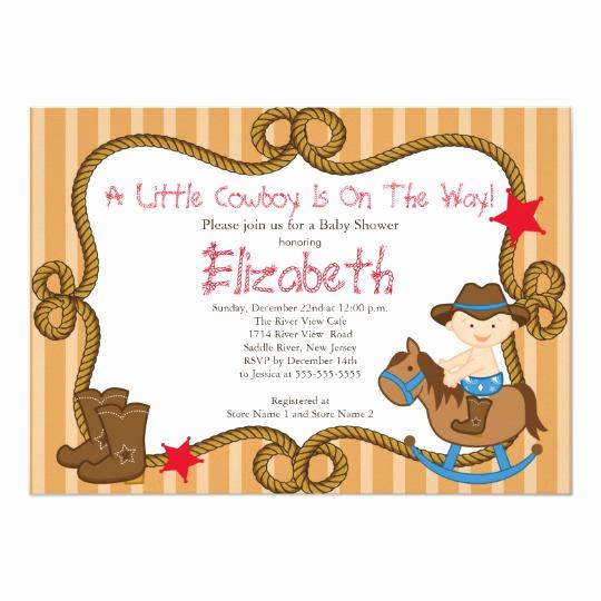 Western Baby Shower Invitation Template Best Of Cute Western Little Cowboy Baby Shower Invitations