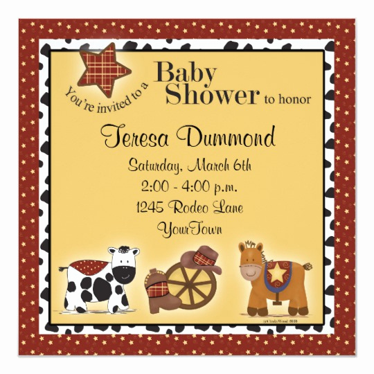 Western Baby Shower Invitation Template Lovely Cowboy or Cowgirl Baby Shower Invitation