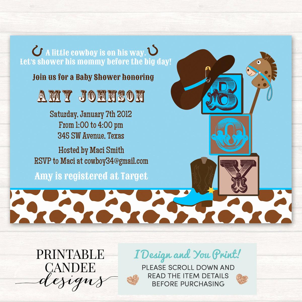 Western Baby Shower Invitation Template Luxury Cowboy Baby Shower Invitation Cowboy Baby Shower Western