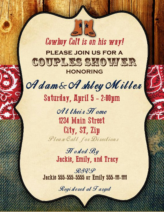 Western Baby Shower Invitation Template New Country Baby Shower Invitations