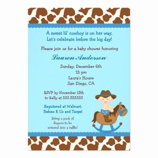Western Baby Shower Invitation Template Unique Cowboy Baby Shower Invitations