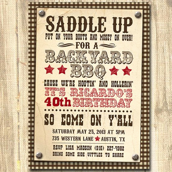 Western Party Invitation Templates Free Awesome 25 Best Ideas About Western Invitations On Pinterest
