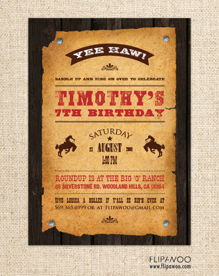 Western Party Invitation Templates Free Elegant Pininterestwestern theme Party