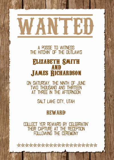 Western Party Invitation Templates Free Elegant Western Wedding Invitations On Pinterest