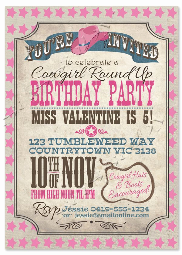 Western Party Invitation Templates Free Fresh Best 25 Cowgirl Birthday Invitations Ideas On Pinterest