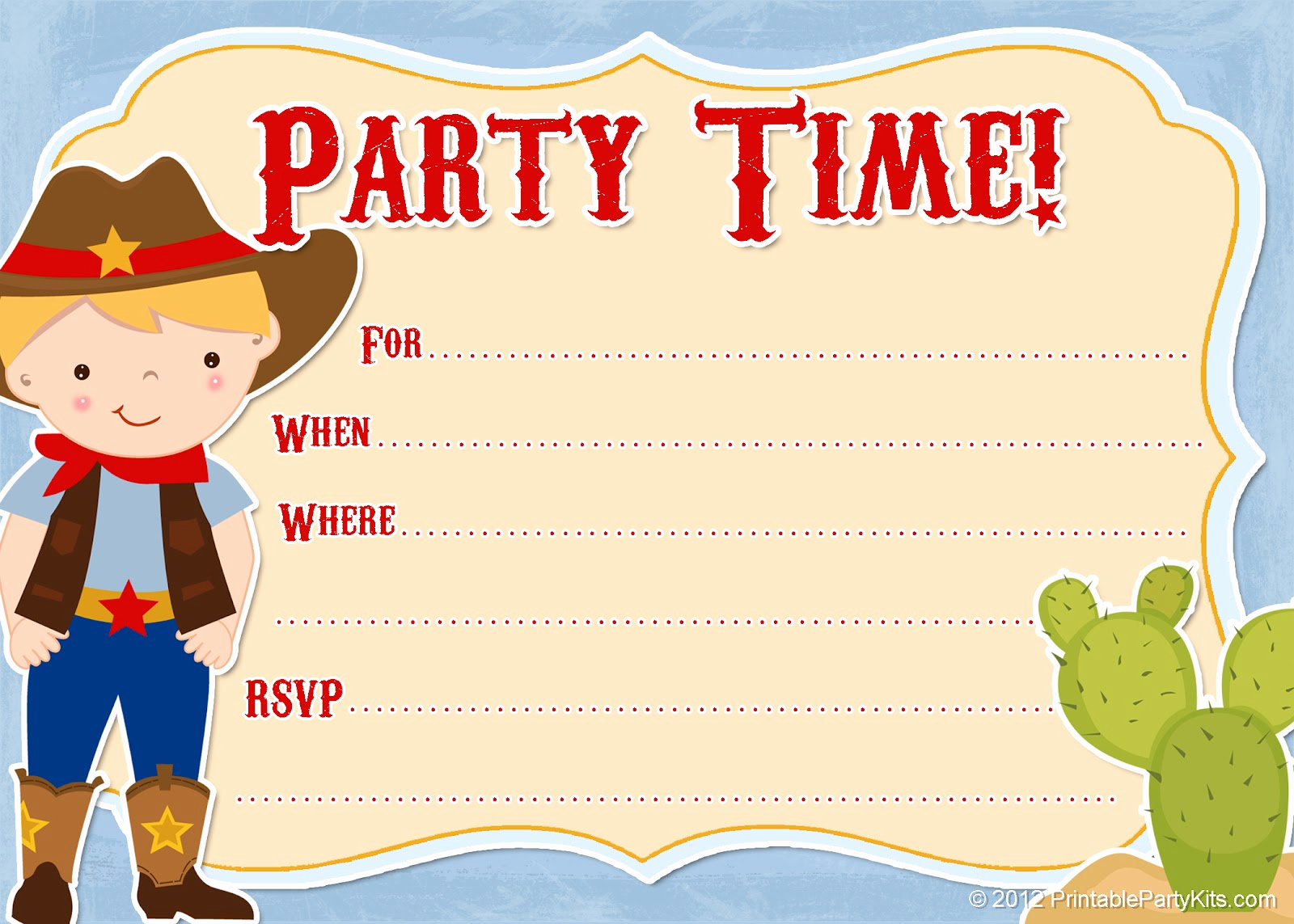 Western Party Invitation Templates Free Lovely Free Printable Party Invitations Free Printable Cowboy