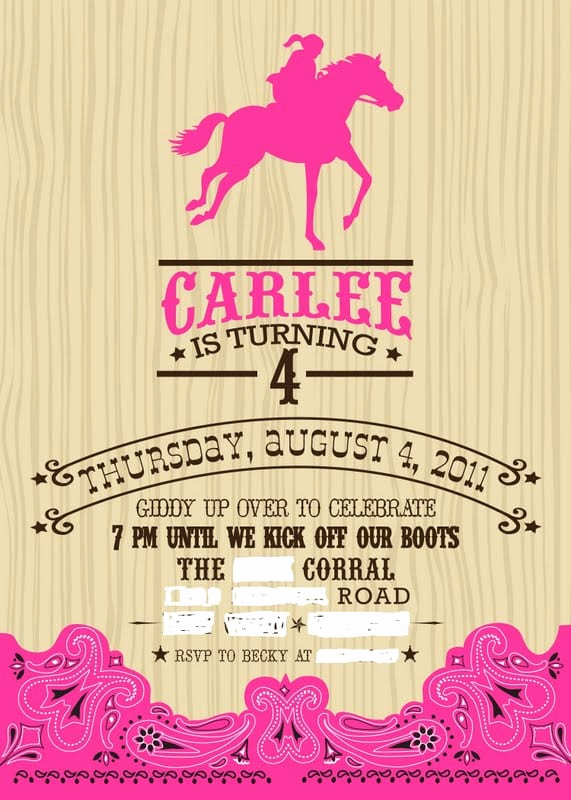 Western Party Invitation Templates Free New Western Invitation Template Free