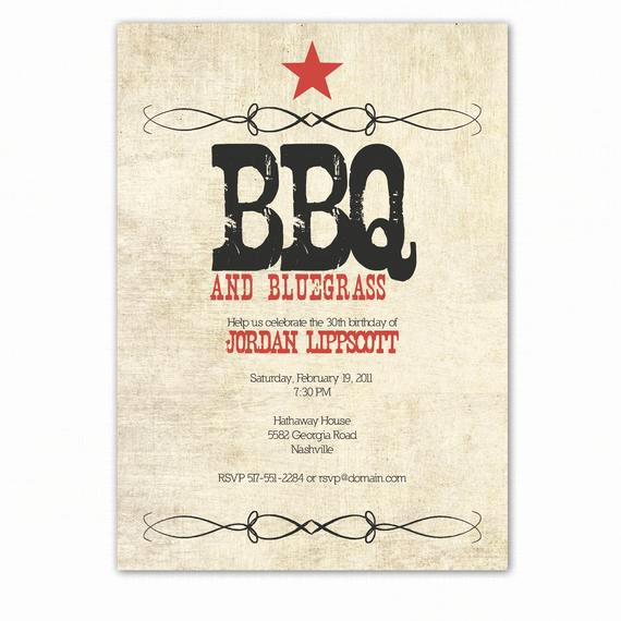 Western Party Invitation Templates Free Unique Western Birthday Party Invitation Western Bbq Party