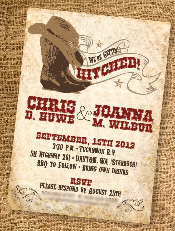 Western theme Invitation Templates Awesome 1000 Ideas About Western Wedding Invitations On Pinterest