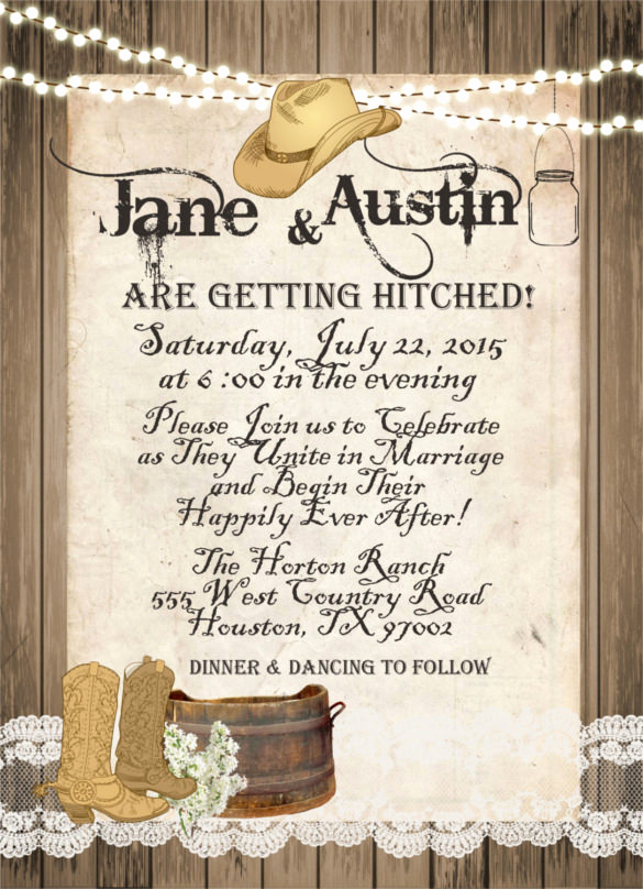 Western theme Invitation Templates Awesome 28 Western Wedding Invitation Templates – Free Sample