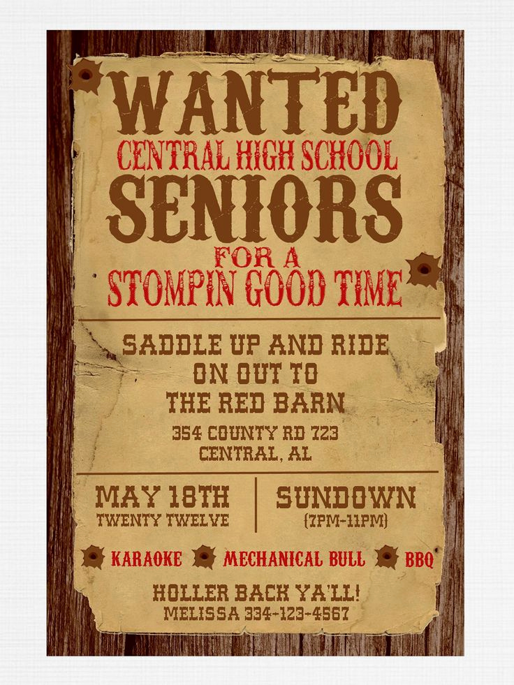 Western theme Invitation Templates Fresh Wanted Poster Western Party Invitation Birthday