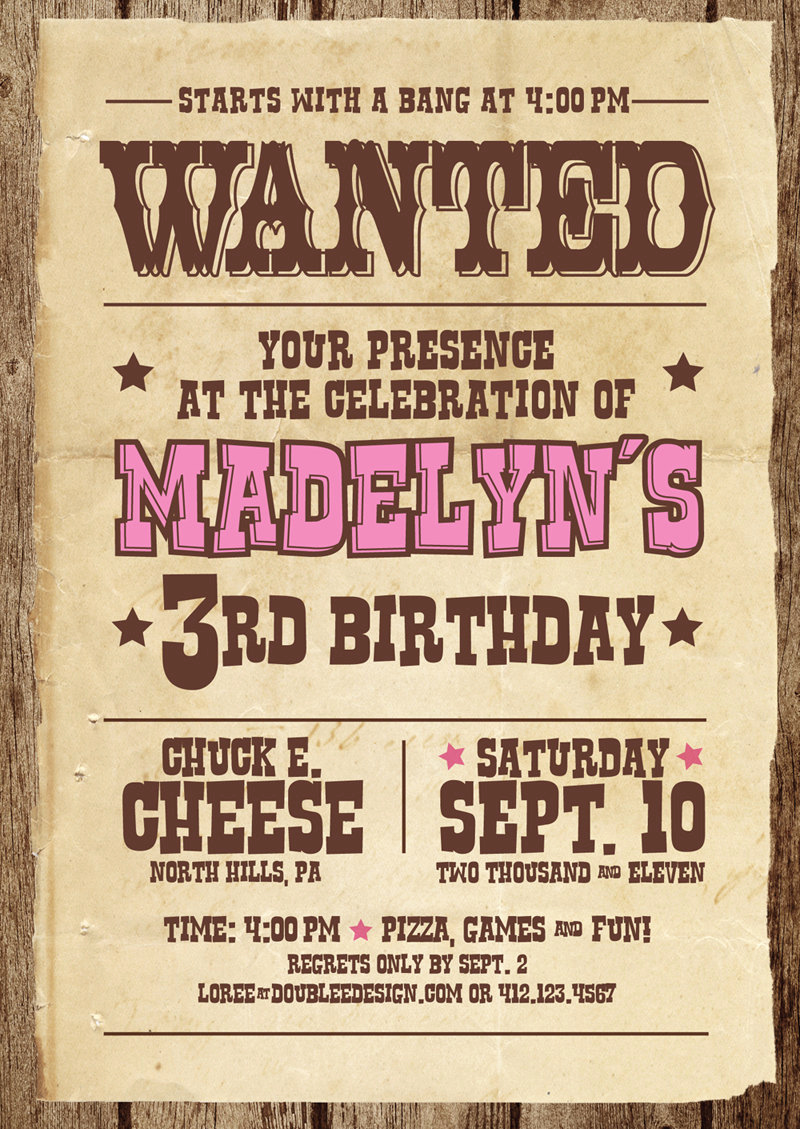 Western theme Invitation Templates Inspirational Items Similar to Western Wanted Birthday Invitations On Etsy