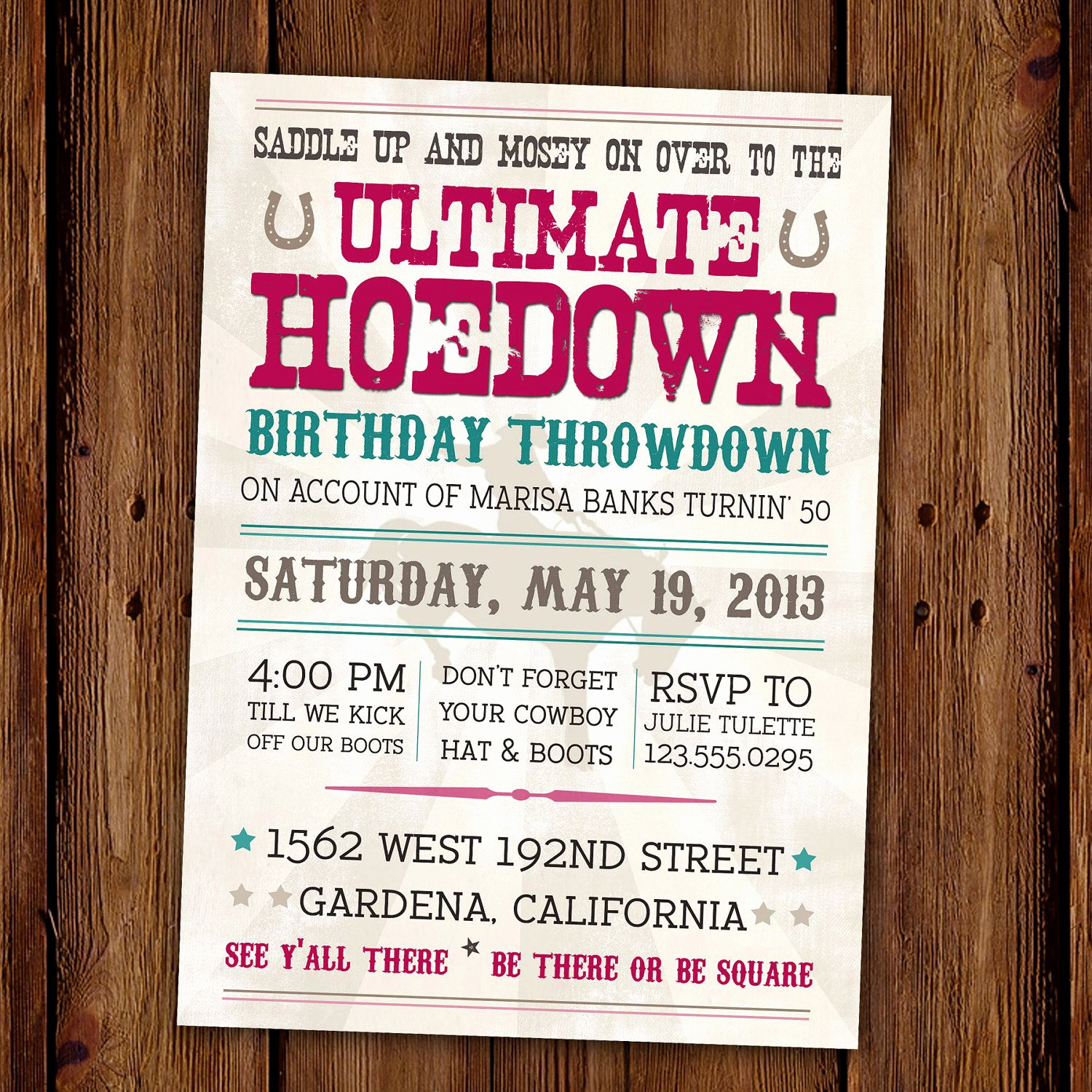 Western theme Invitation Templates Inspirational Vintage Hoedown Invitation Country Western Printable