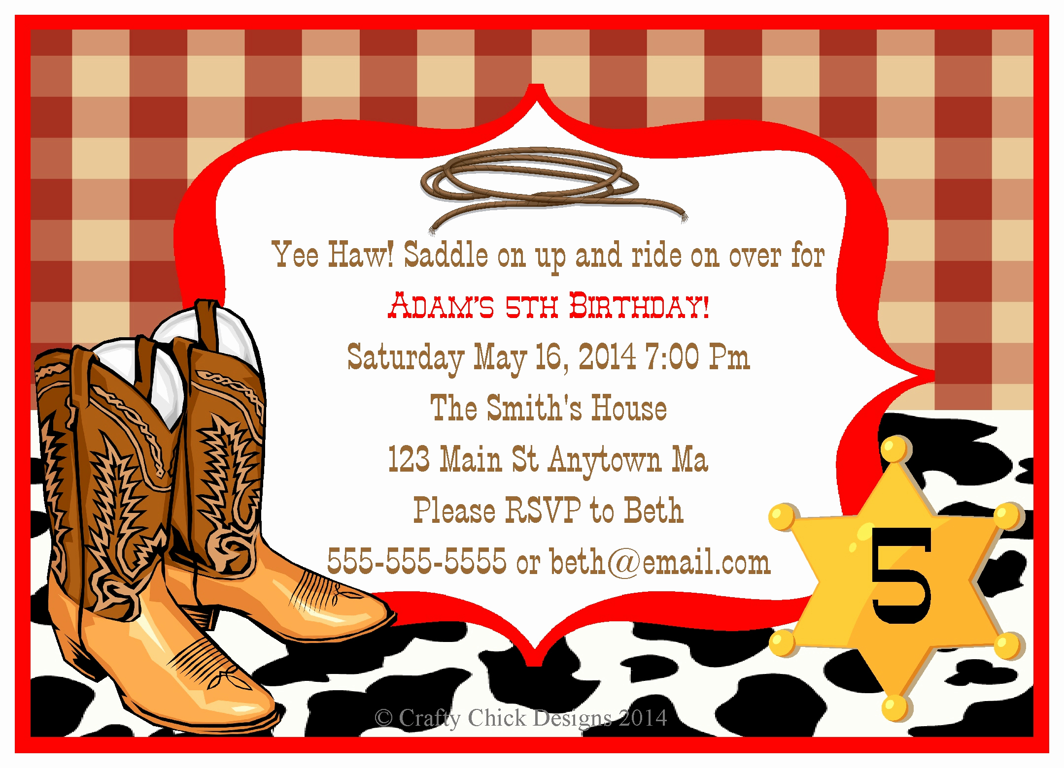 Western theme Invitation Templates New Cowboy Birthday Party Invitations
