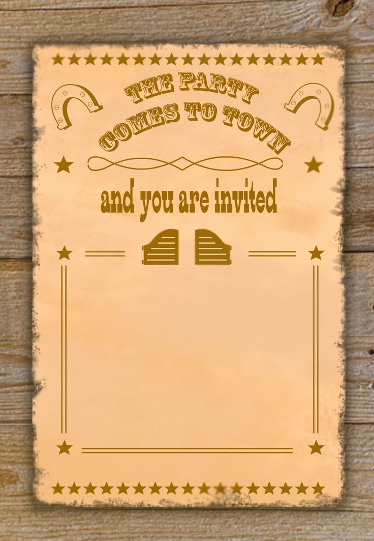 Western theme Invitation Templates New Download now Free Cowboy Birthday Invitations