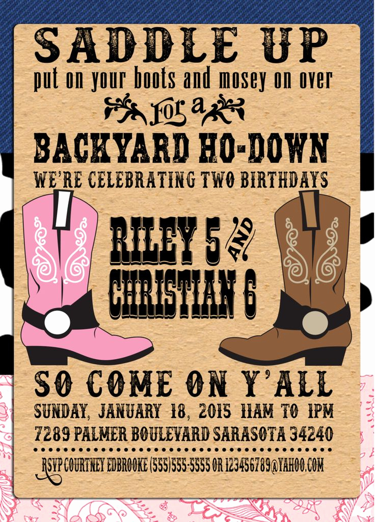 Western theme Party Invitation Template Awesome Pin by Crafted by Yudi On Cowboy theme