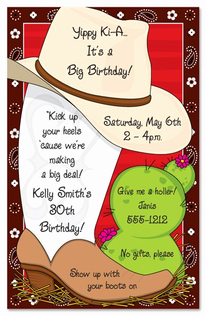 Western theme Party Invitation Template Best Of Pictures Of Western Birthday theme