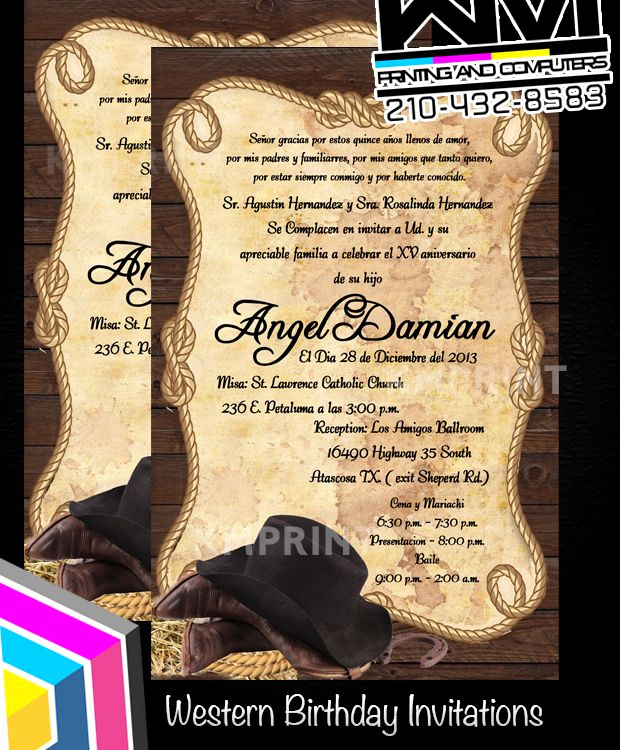 Western theme Party Invitation Template Best Of Western Cowboy theme Invitation Birthday Wedding