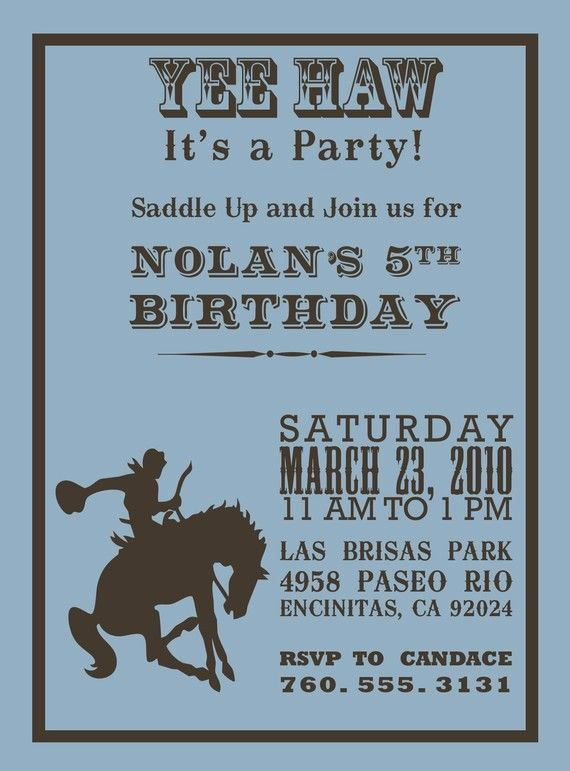 Western theme Party Invitation Template Elegant 25 Best Ideas About Cowboy Party Invitations On Pinterest