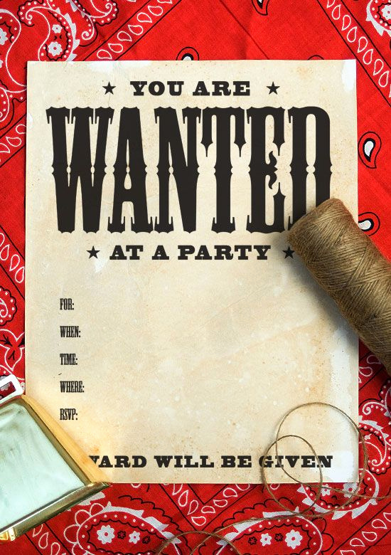 Western theme Party Invitation Template Elegant Free Printable Wanted Poster Invitation Tutorial for