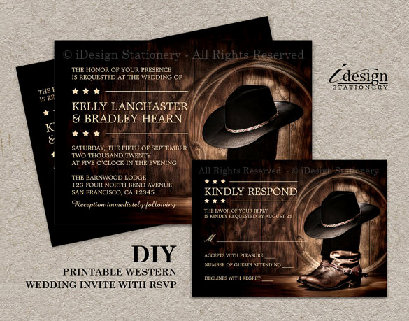 Western theme Party Invitation Template Fresh Wedding Invitation Template 71 Free Printable Word Pdf