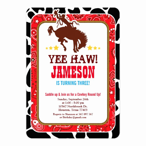 Western theme Party Invitation Template Unique Cowboy Western Old West Birthday Party Invitation