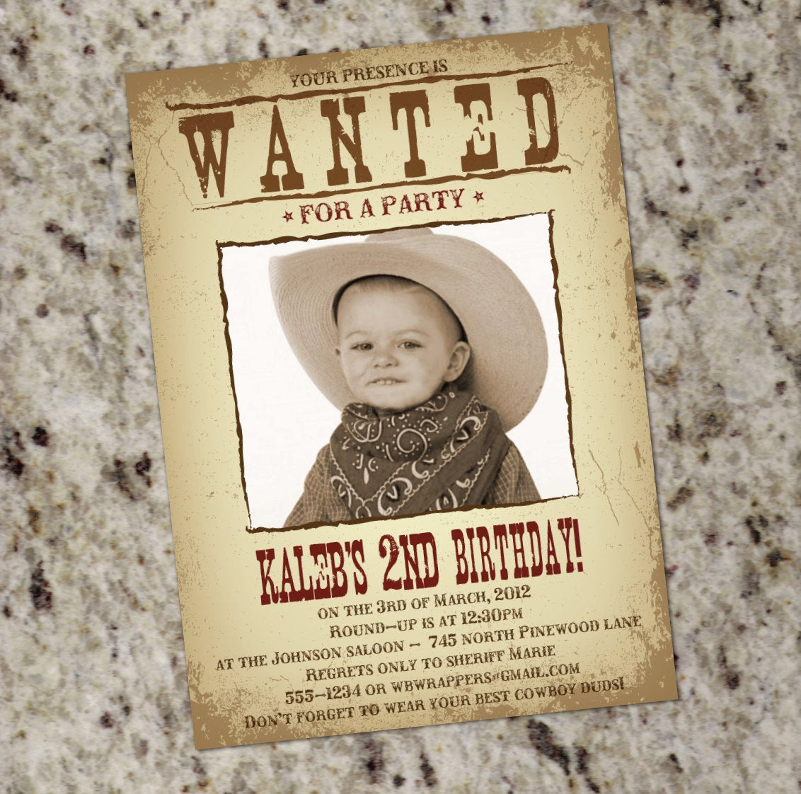 Western themed Invitation Templates Beautiful Wanted Poster Western themed Party Invitation Printable