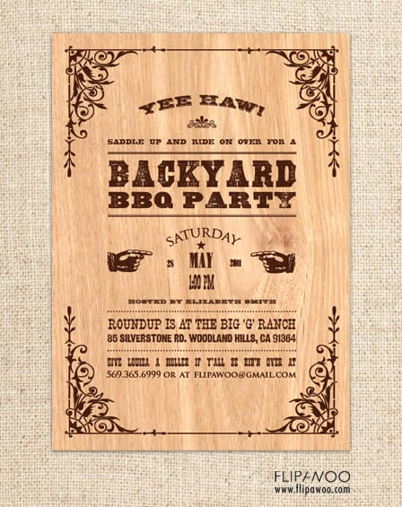 Western themed Invitation Templates Best Of Free Western Invitation Template