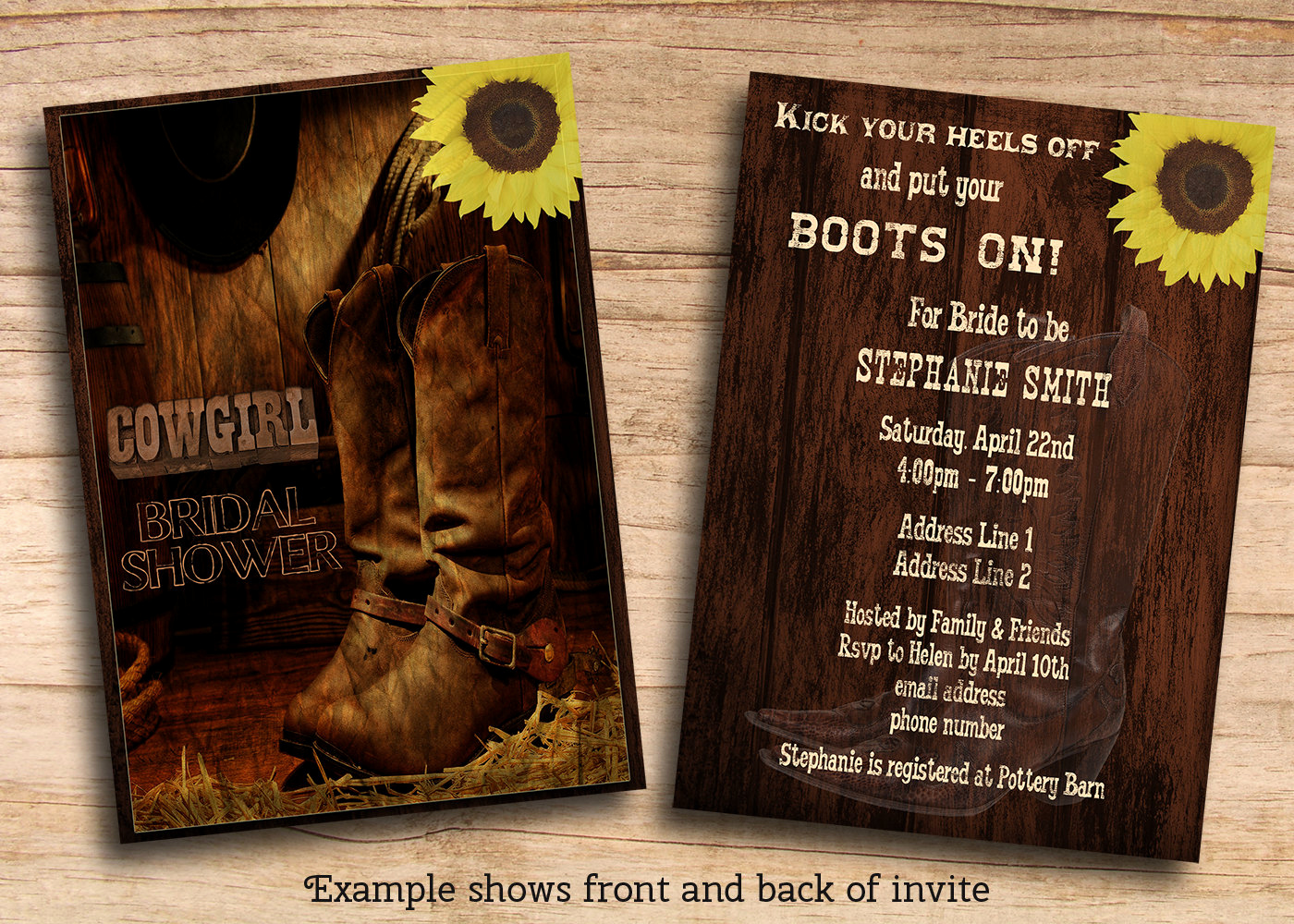 Western themed Invitation Templates Elegant Printable Rustic Country Western Cowgirl Bridal Shower Invites