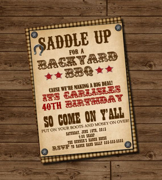 Western themed Invitation Templates Fresh Western Invitation 4th Of July Invitation Birthday