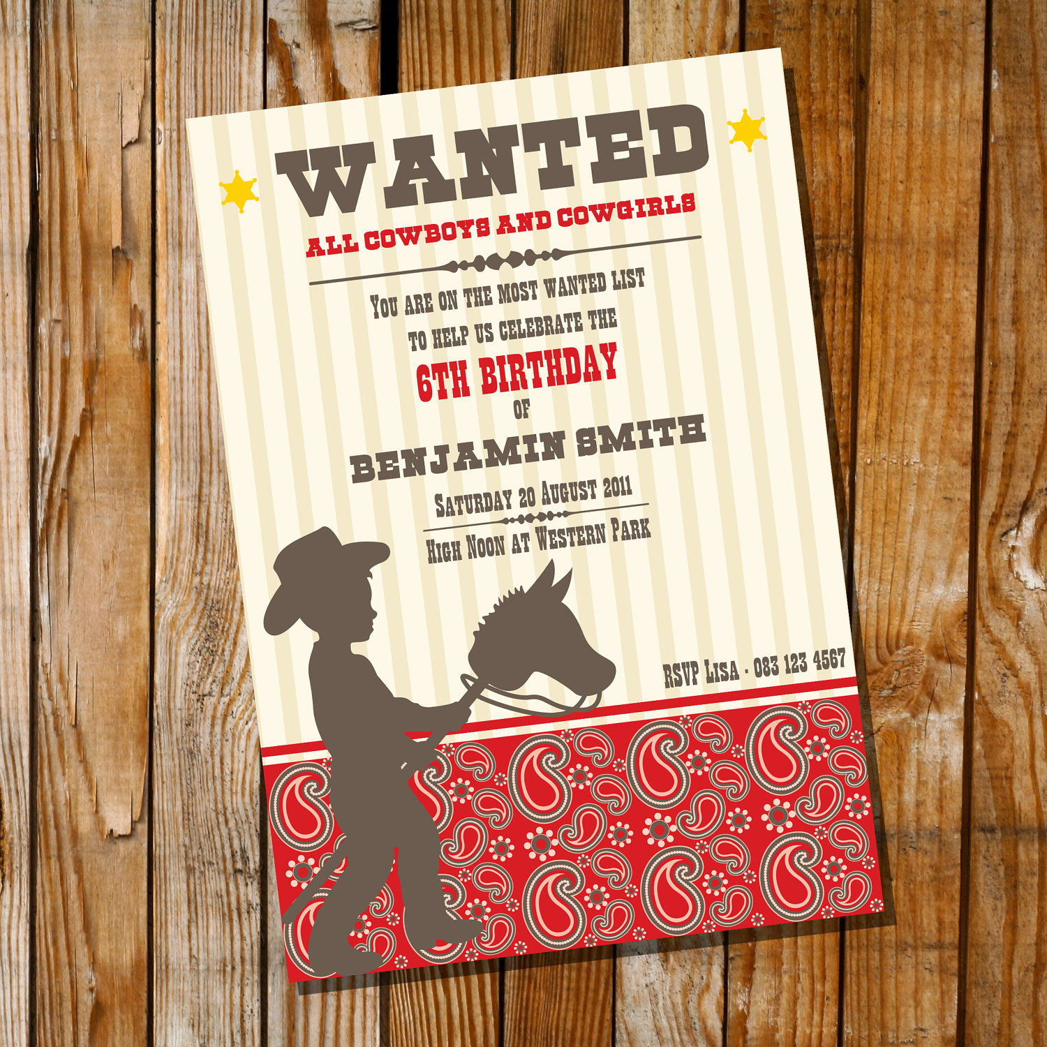 Western themed Invitation Wording Awesome Little Cowboy Birthday Party Invitation Ly Instantly