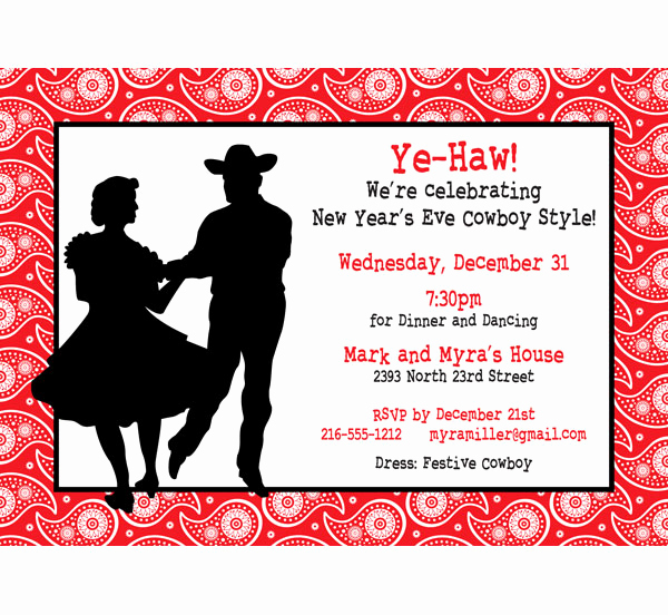 Western themed Invitation Wording Awesome Western Hoedown Invitation